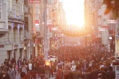 Beyoglu,伊斯坦布尔 免版税库存照片