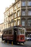 Beyoglu, cabina di funivia nostalgica Fotografie Stock Libere da Diritti