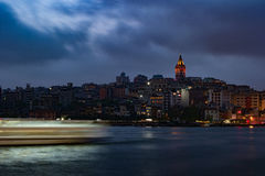 Beyoglu district historic architecture and Galata tower medieval landmark in Istanbul, Turkey Stock Photography