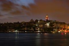 Beyoglu district historic architecture and Galata tower medieval landmark in Istanbul, Turkey Stock Image