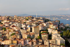 Beyoglu District in Istanbul. View on the Beyoglu district in Istanbul, Turkey stock images