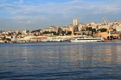 Beyoglu, Istanbuł & Złoty róg, zdjęcie stock