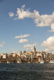 Beyoglu parts of Istanbul. View of the Beyoglu parts of the turkish city of Istanbul, with the historic galata tower royalty free stock photos