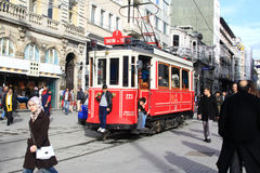 Beyoglu tram, Beyoglu/Istanbul/Turkey Stock Images