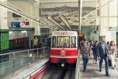 Beyoglu Tunel驻地,伊斯坦布尔,土耳其 免版税库存照片