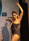 Beyoncé Knowles. Wax statue at Madame Tussauds in London royalty free stock images
