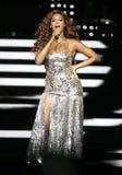 Beyonce se realiza en concierto foto de archivo libre de regalías