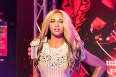 Beyonce vaxdiagram på museet för madam Tussauds i Istanbul royaltyfri bild