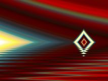 Beyond the bermuda triangle. Abstract with triangle set against dark background stock image