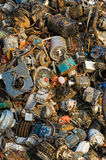 Beyond the consumption society. Lies a pile of old engines in the landfill Royalty Free Stock Image