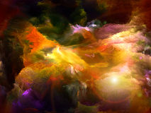 Beyond Dream. Backdrop of dreamy forms and colors on the subject of dream, imagination, fantasy and abstract art Royalty Free Stock Photos