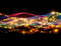 Beyond Dynamic Network. Abstract composition of lights, fractal and custom design elements suitable as element in projects related to network, technology and Royalty Free Stock Photography