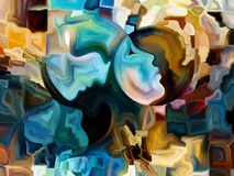 Beyond Inner Paint. Colors of the Mind series. Backdrop composed of elements of human face, and colorful abstract shapes and suitable for use in the projects on Stock Photo