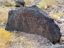 Petroglyph National Monument in New Mexico stock image