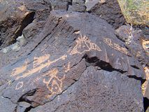 Petroglyph National Monument in New Mexico royalty free stock photography