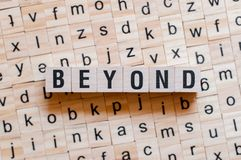 Beyond word on wooden cubes royalty free stock images
