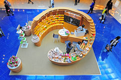 Beyorg beauty care products. Promotional sale of beyorg organic beauty skincare, makeup, fragrance and hair care products at festival walk shopping mall, hong Stock Photo