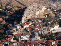 Beypazari Houses and Interesting Rocks Royalty Free Stock Image