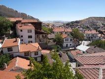 Beypazari hus och att intressera vaggar Arkivbilder