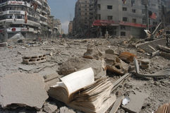 Beyrouth a bombardé Photographie stock