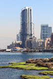 Beyrouth - roches de pigeon Photographie stock