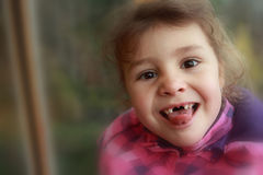 Bez zębów szczęśliwy dziecko Obraz Stock