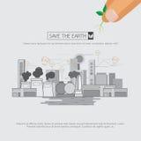 Bez zanieczyszczenia szklarniany skutek Obraz Stock