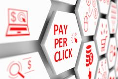 Bezahlung-pro-Klick- Konzept Stockfoto