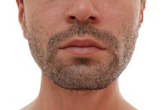 Bezaubern und halbes Gesicht des gutaussehenden Mannes Lizenzfreies Stockfoto