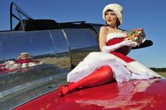 Bezaubernder Weihnachtsstift herauf Mädchen Lizenzfreies Stockbild