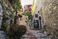 Bezauberndes Provencal-Haus in Eze, Taubenschlag d ` Azur, Frankreich Lizenzfreie Stockbilder