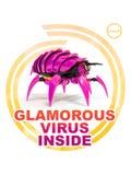 Bezauberndes Virus nach innen Lizenzfreies Stockbild