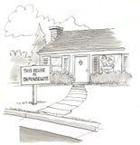bezbronny dom ilustracja wektor
