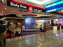 Bezcłowy sklep przy Dubai International lotniskiem obraz royalty free
