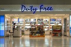 Bezcłowy sklep przy Suvarnabhumi lotniskiem międzynarodowym, Bangkok, Tajlandia Zdjęcia Stock
