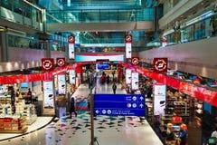 Bezcłowy zakupy, Dubai International lotnisko, Zjednoczone Emiraty Arabskie zdjęcia royalty free