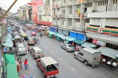Bezcelowość na ulicach Bangkok widok od above Zdjęcia Stock