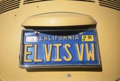 Bezcelowości tablica rejestracyjna - Kalifornia zdjęcia stock