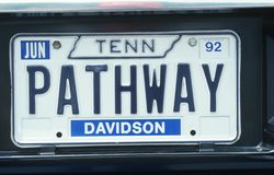 Bezcelowości tablica rejestracyjna - Tennessee Obrazy Royalty Free