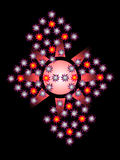 Bezcelowy graficzny skład z gwiazdami na czarnym tle Obraz Royalty Free