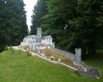 Bezděz城堡-微型模型 库存图片