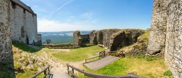 Bezdez城堡里面在北波希米亚,捷克 库存照片