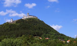 Bezdez castle. Ancient castle Bezdez like a dominant on the big hill in central Bohemia stock images