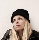 Bezdomna dziewczyna obraz stock