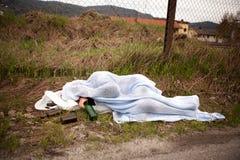 bezdomna osoba Obrazy Stock