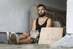 Bezdomny żebrak zdjęcia royalty free