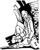 bezdomny royalty ilustracja