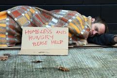 bezdomny mężczyzna Fotografia Stock