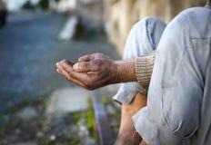 Bezdomny mężczyzna zdjęcie royalty free