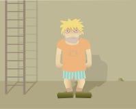 bezdomny mężczyzna ilustracja wektor